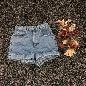 American Apparel High Waisted Cuffed Shorts